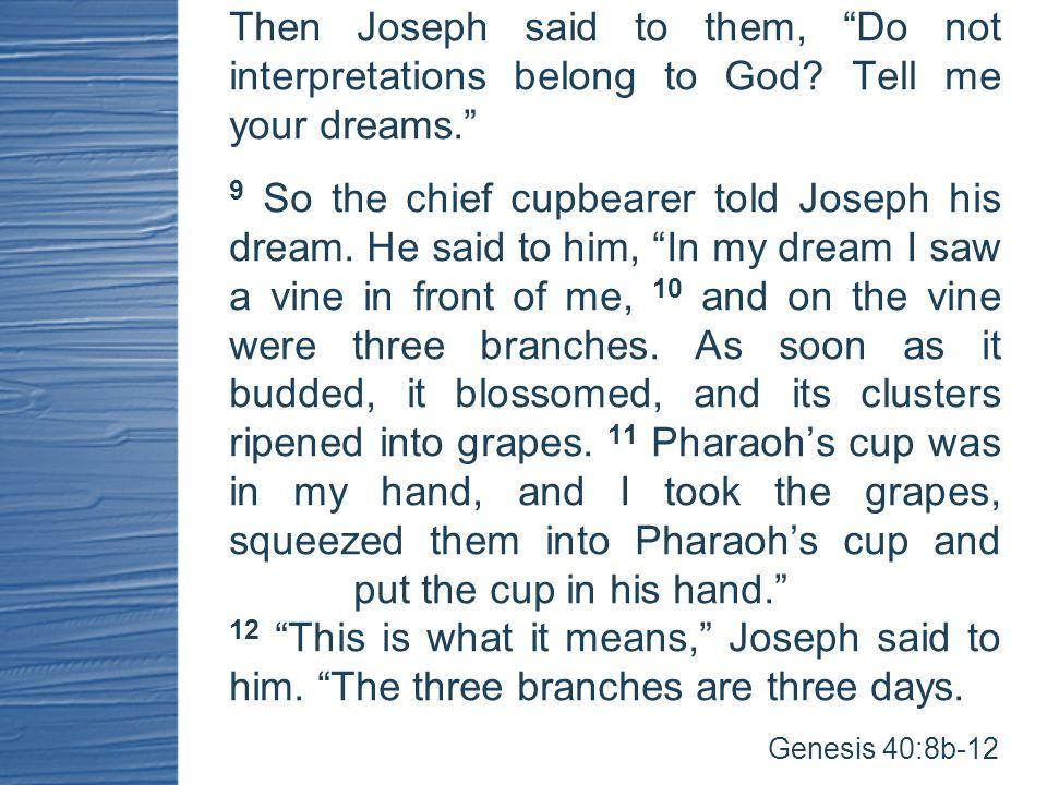 Then Joseph said to them, Do not interpretations belong to God.