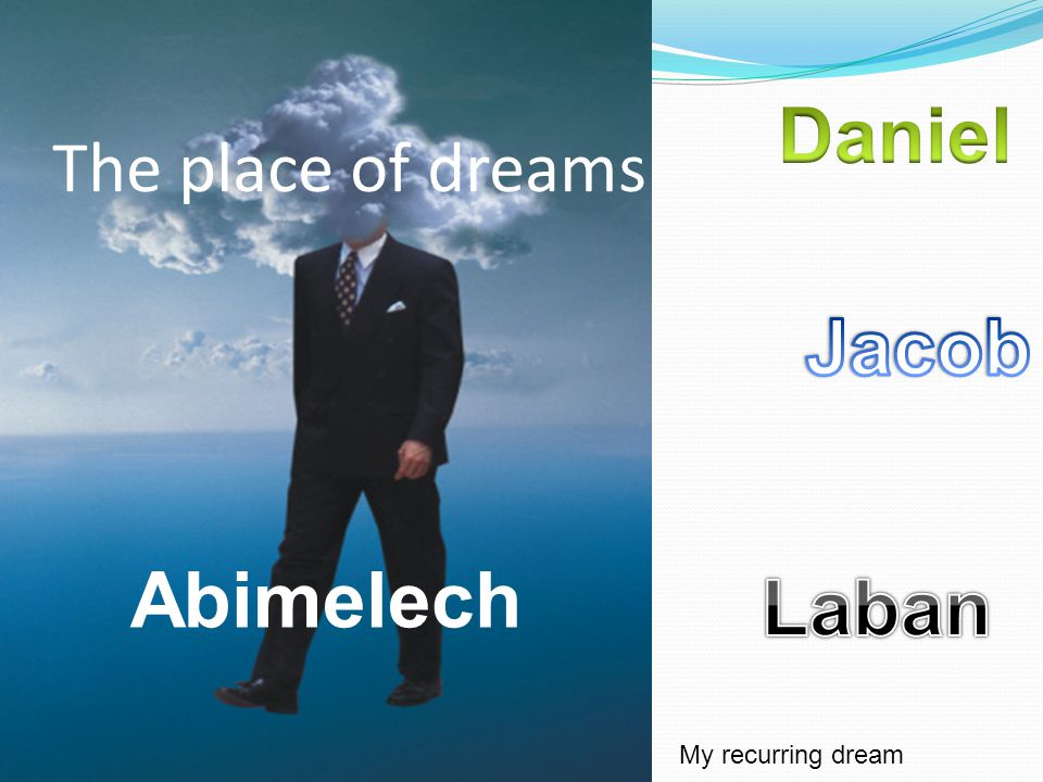 The place of dreams Abimelech My recurring dream