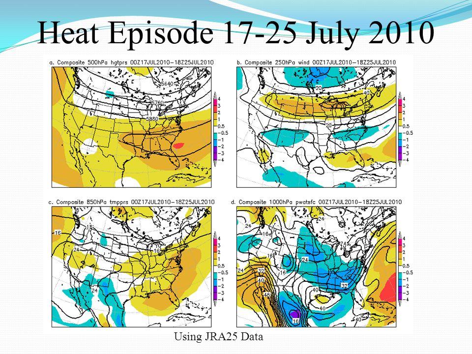 Heat Episode 17-25 July 2010 Using JRA25 Data