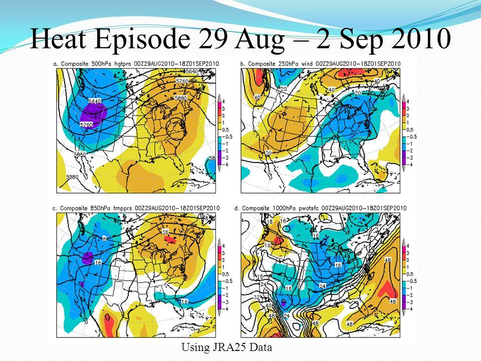 Heat Episode 29 Aug – 2 Sep 2010 Using JRA25 Data