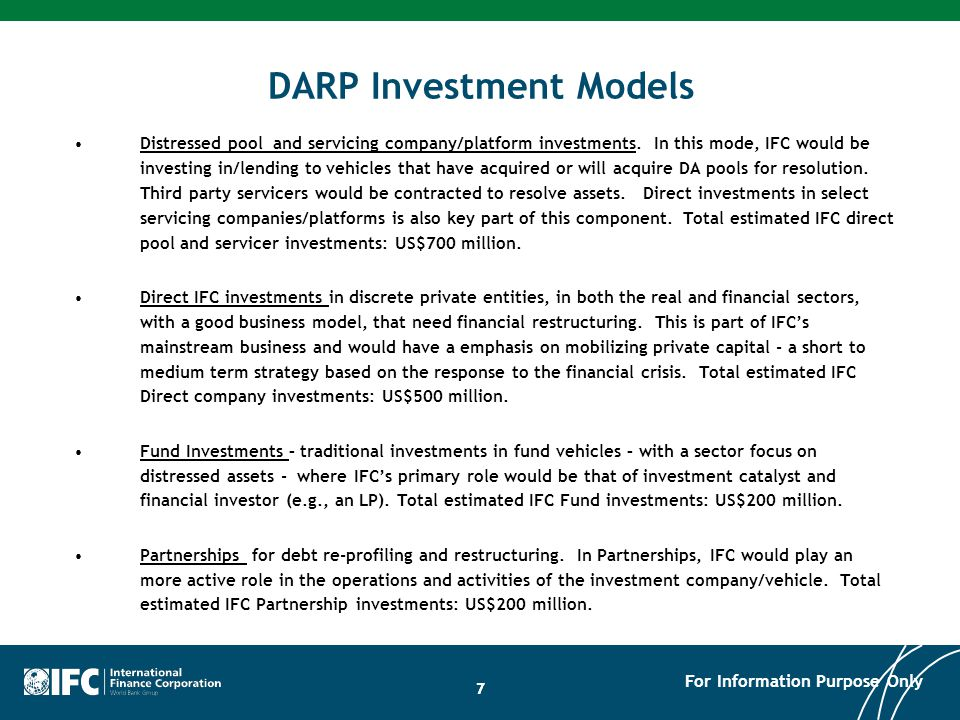DARP Program Update General Summary: Since its program launch in August 2009, the Debt and Asset Program has been very successful and continues to make progress.
