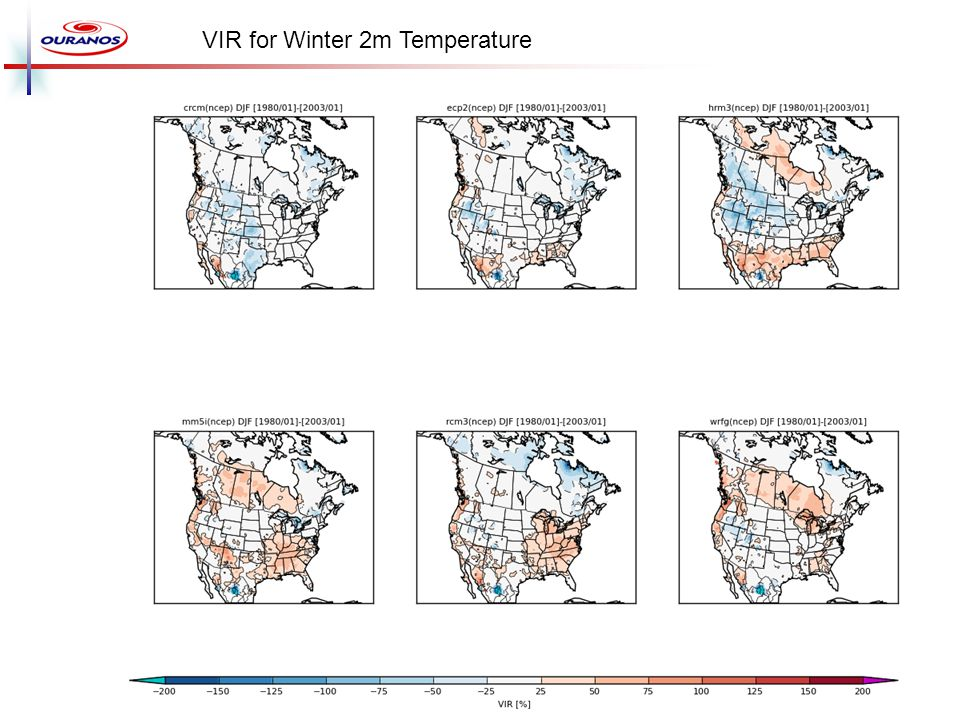 VIR for Winter 2m Temperature