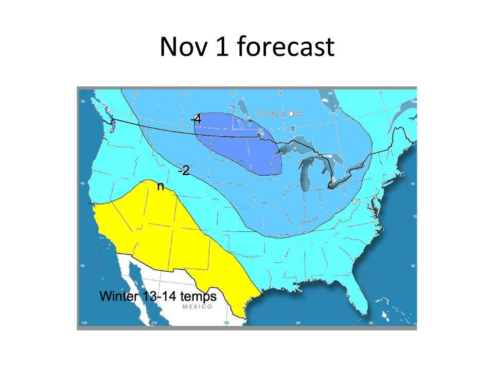 Nov 1 forecast
