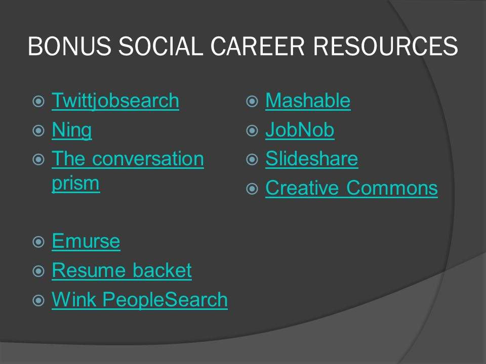 http://www.slideshare.net/cfer dinandi/resumesm Tutorial about Linkedin for students and grads Overview on Linkedin profile