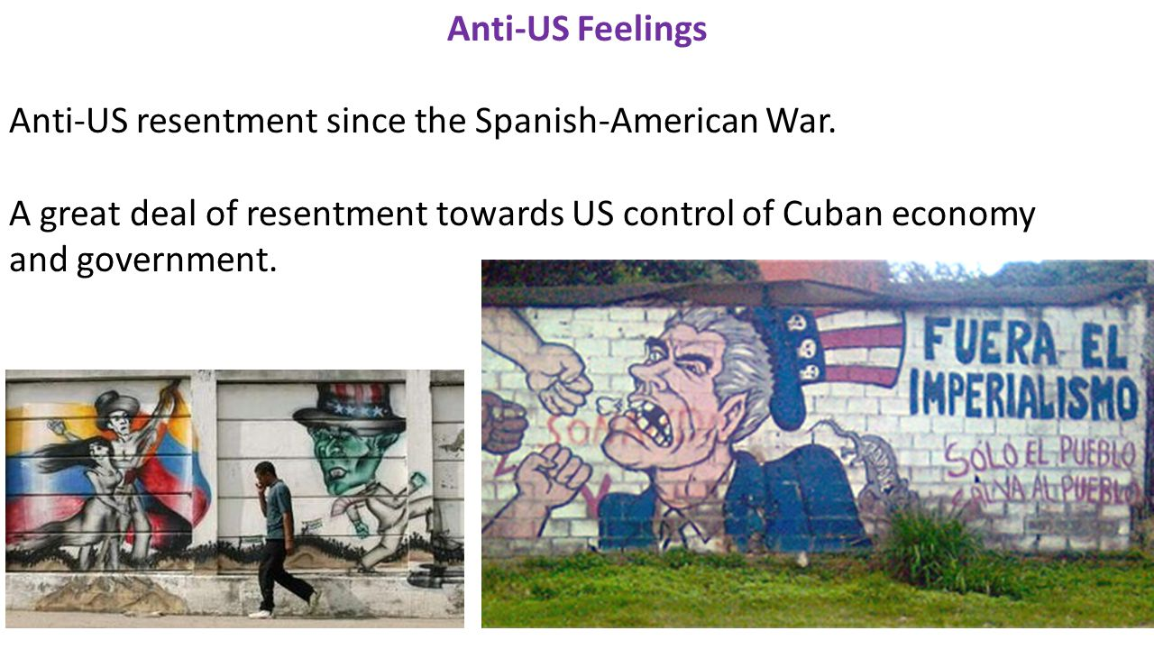 Anti-US Feelings Anti-US resentment since the Spanish-American War.