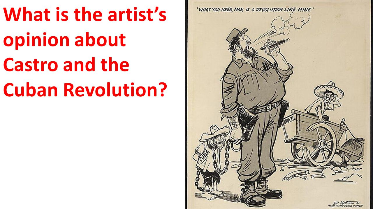 What is the artist's opinion about Castro and the Cuban Revolution