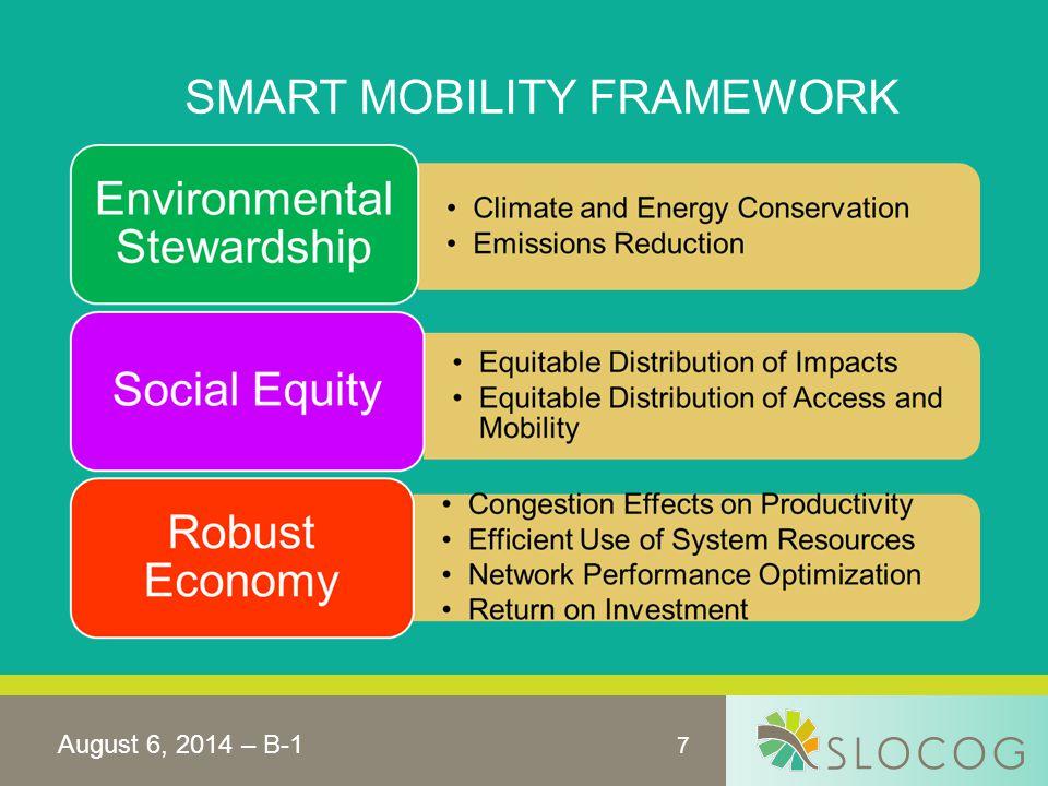 7 SMART MOBILITY FRAMEWORK August 6, 2014 – B-1