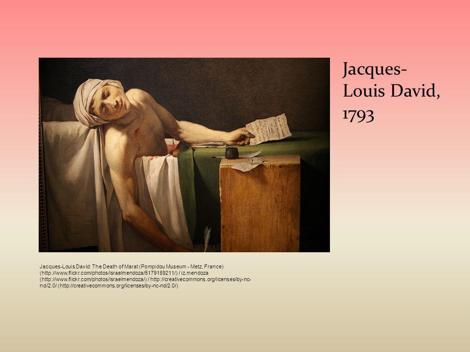 Jacques- Louis David, 1793 Jacques-Louis David: The Death of Marat (Pompidou Museum - Metz, France) (http://www.flickr.com/photos/israelmendoza/517918