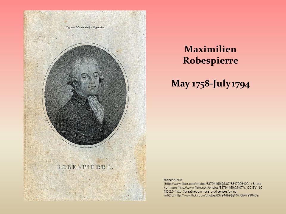 Maximilien Robespierre May 1758-July 1794 Robespierre (http://www.flickr.com/photos/63794459@N07/6547996409/) / Skara kommun (http://www.flickr.com/ph