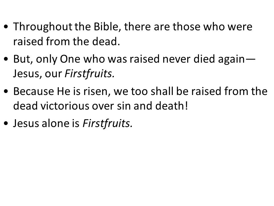 Throughout the Bible, there are those who were raised from the dead.