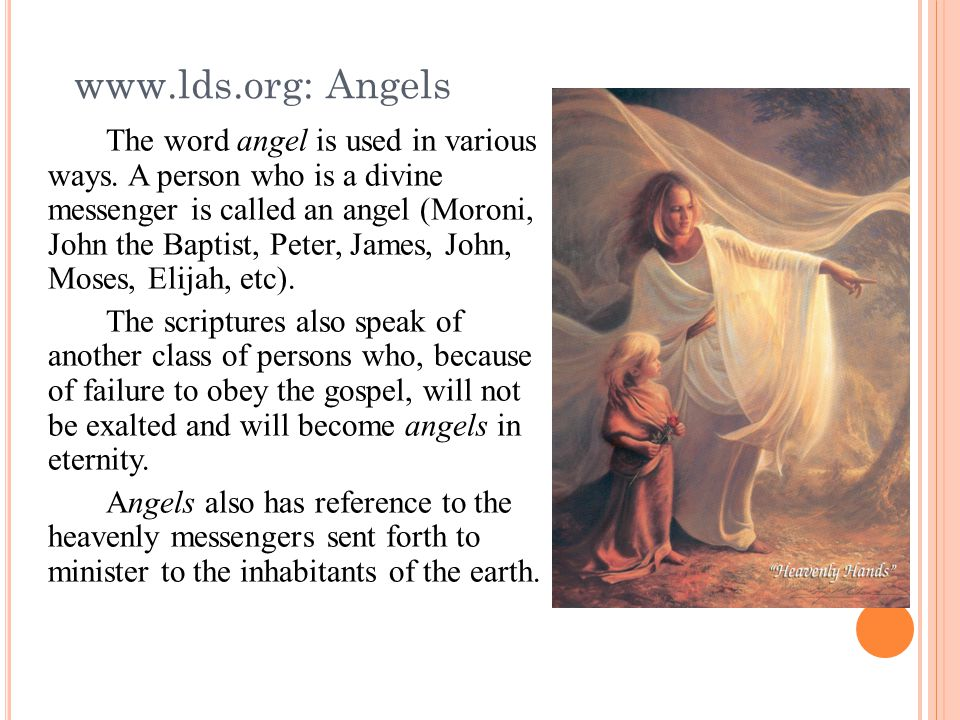 The word angel is used in various ways.