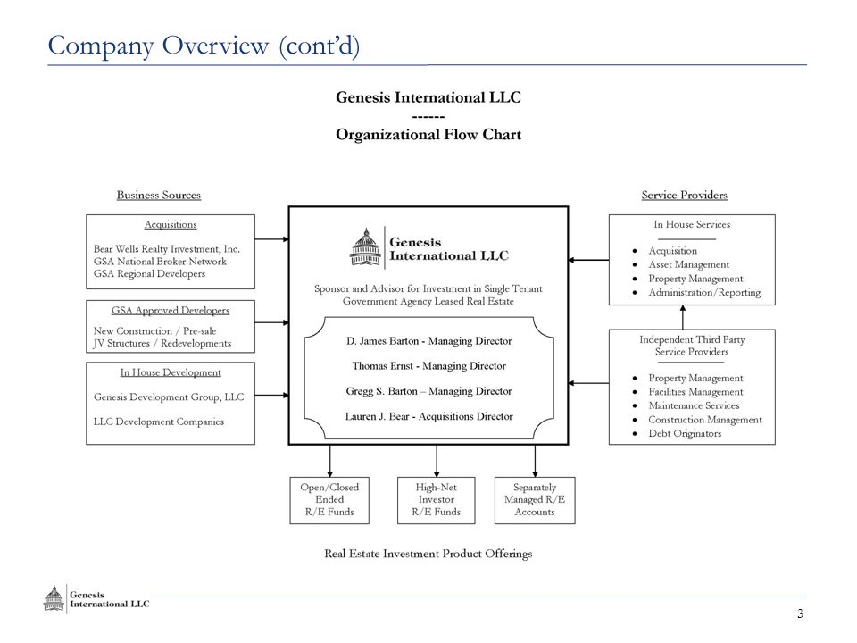 3 Company Overview (cont'd)