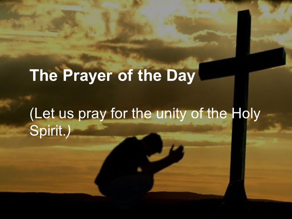 The Prayer of the Day (Let us pray for the unity of the Holy Spirit.)