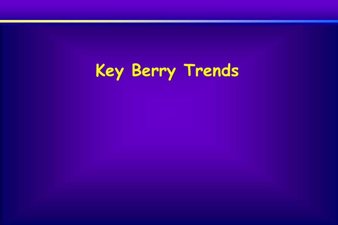 Key Berry Trends