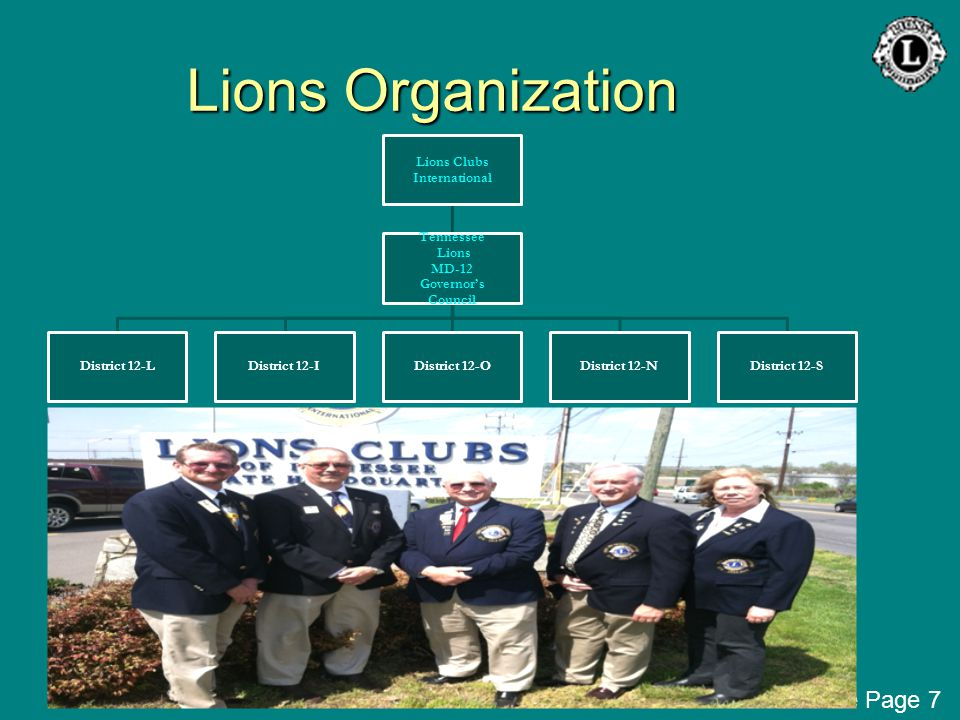 Lions Organization Lions Clubs International Tennessee Lions MD-12 Governor's Council District 12-LDistrict 12-IDistrict 12-ODistrict 12-NDistrict 12-