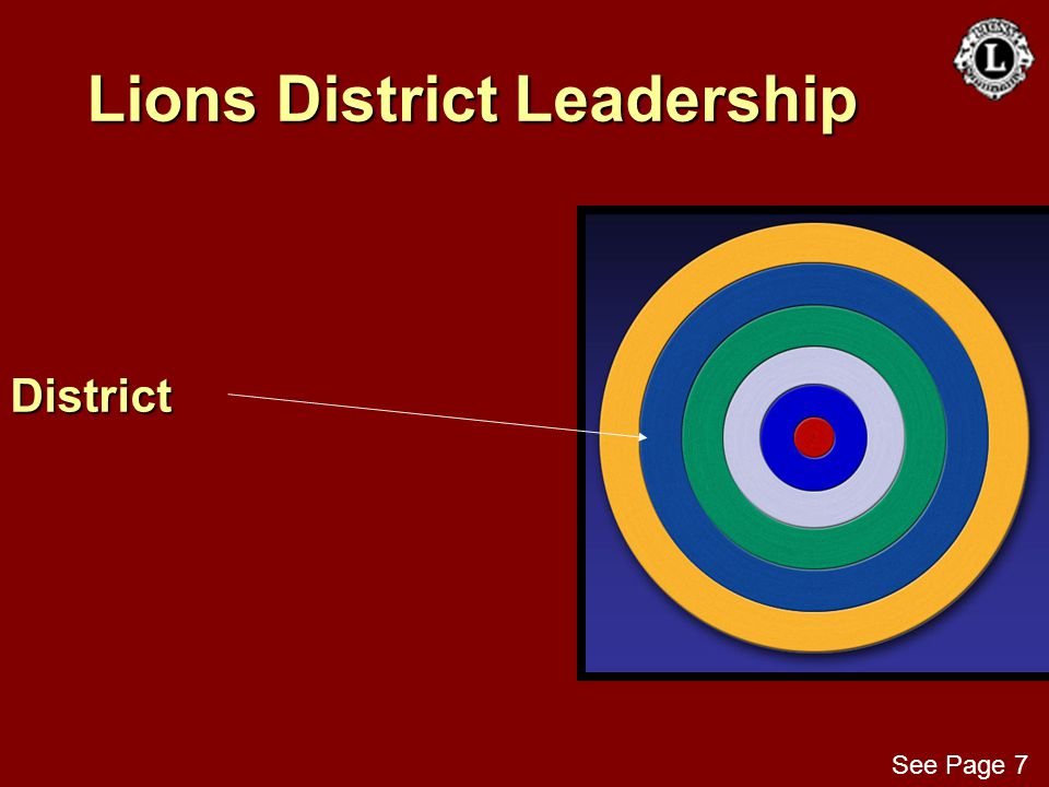Lions District Leadership District See Page 7