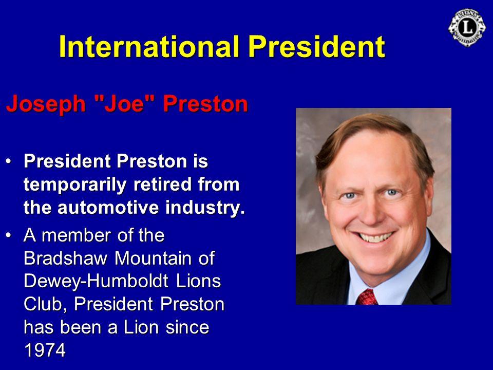 International President Joseph
