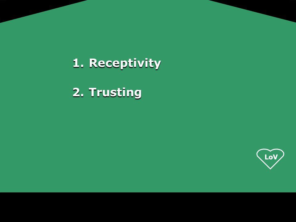 LoV 1.Receptivity 2.Trusting