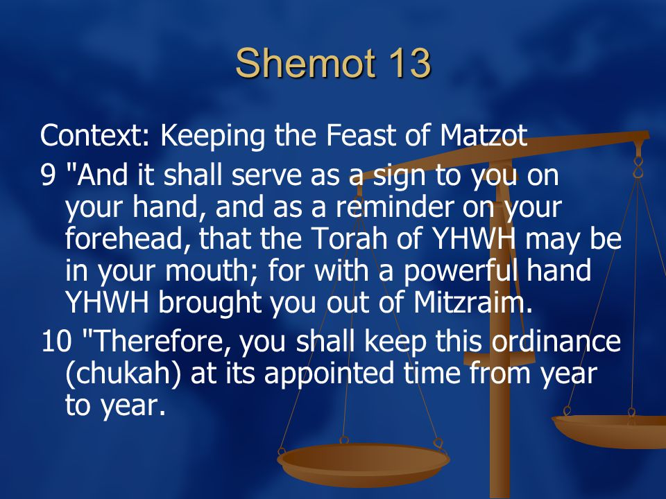 Shemot 13 Context: Keeping the Feast of Matzot 9