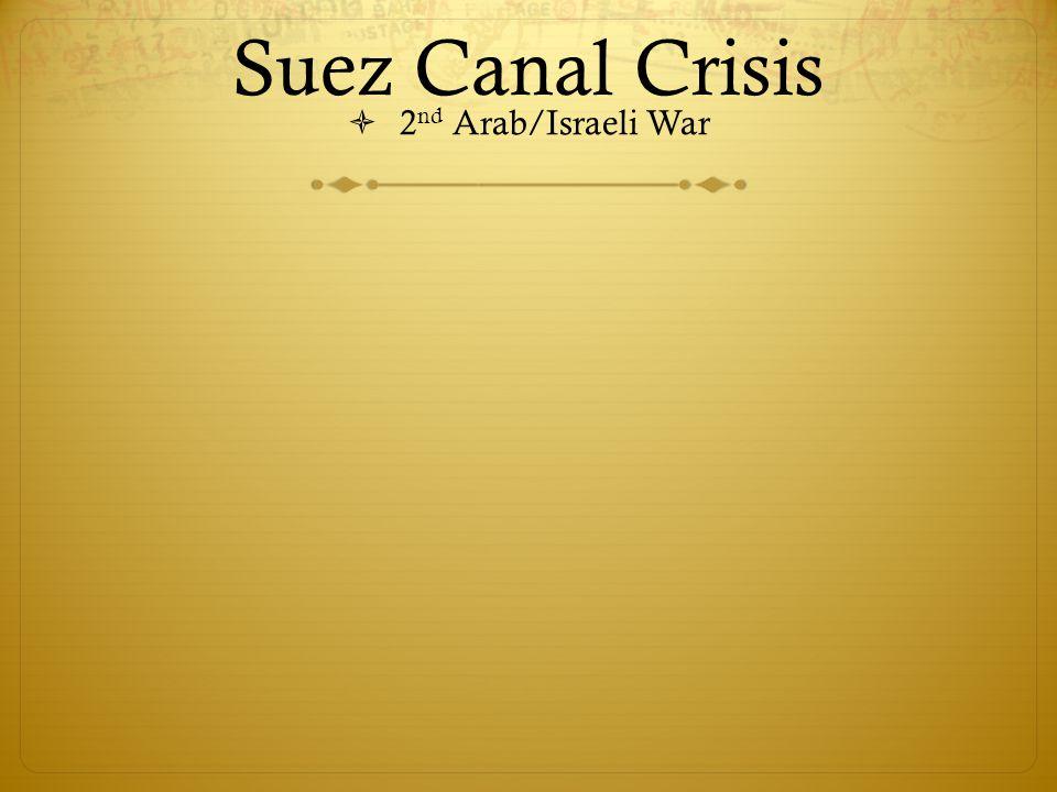 Suez Canal Crisis  2 nd Arab/Israeli War