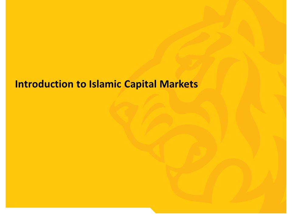 Introduction to Islamic Capital Markets