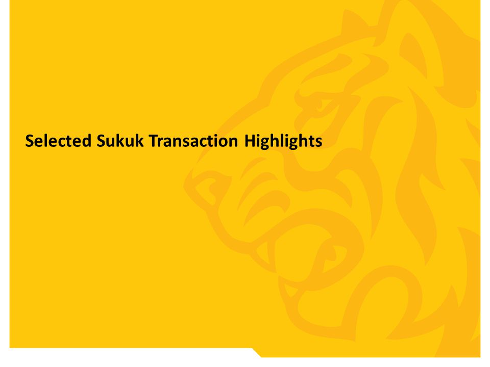 Selected Sukuk Transaction Highlights