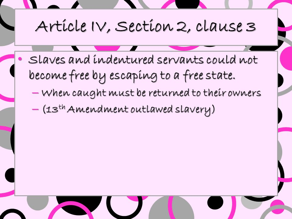 Article IV, Section 3, clause 1 New states are admitted to the Union by congress, but no state may be divided into other states without the approval of the states involved and Congress.
