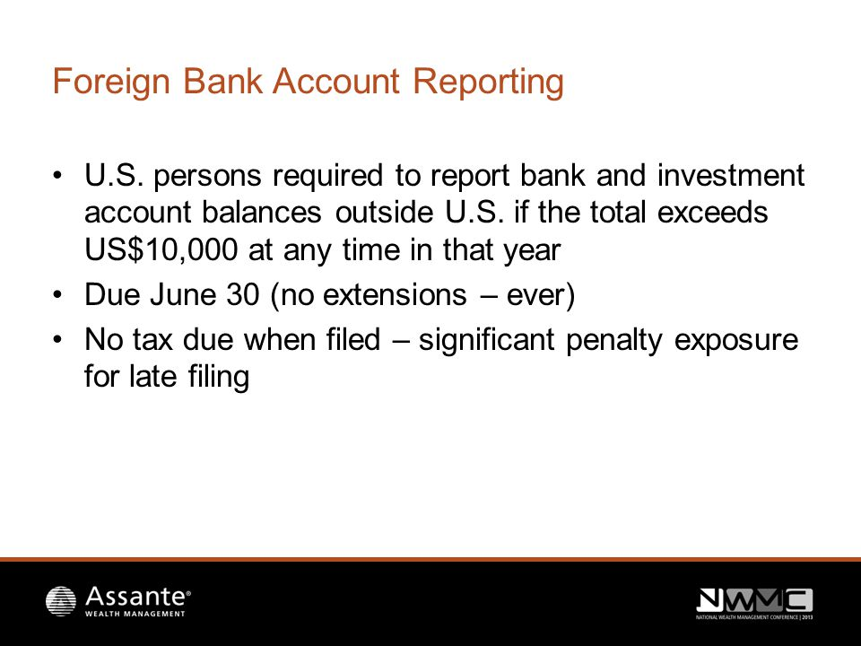 Foreign Bank Account Reporting U.S.