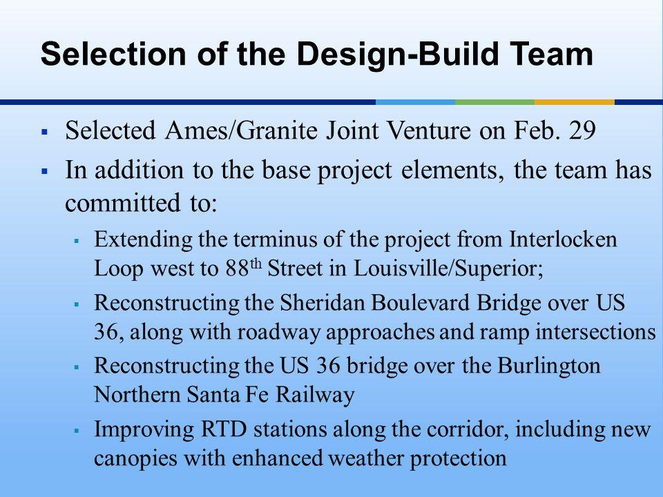  Selected Ames/Granite Joint Venture on Feb.