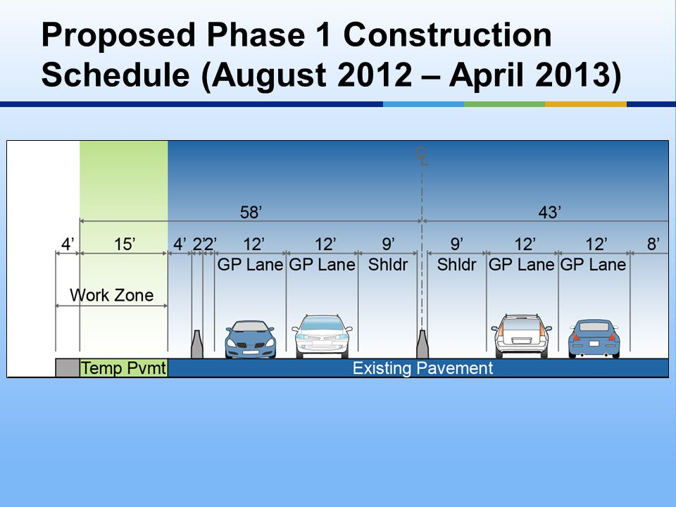 Proposed Phase 1 Construction Schedule (August 2012 – April 2013)