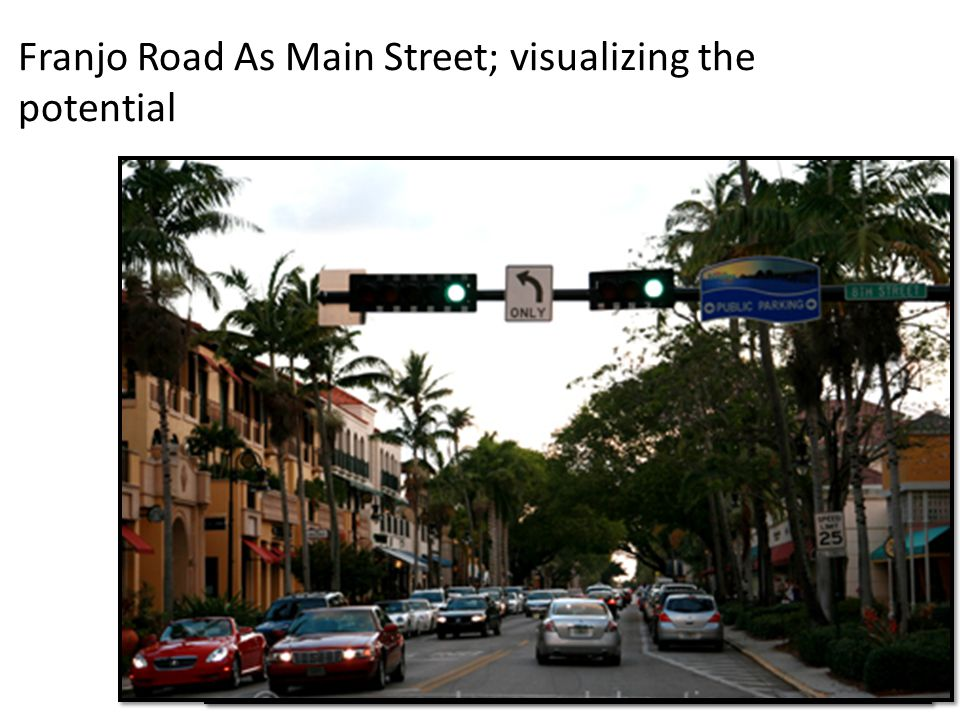 Franjo Road As Main Street; visualizing the potential