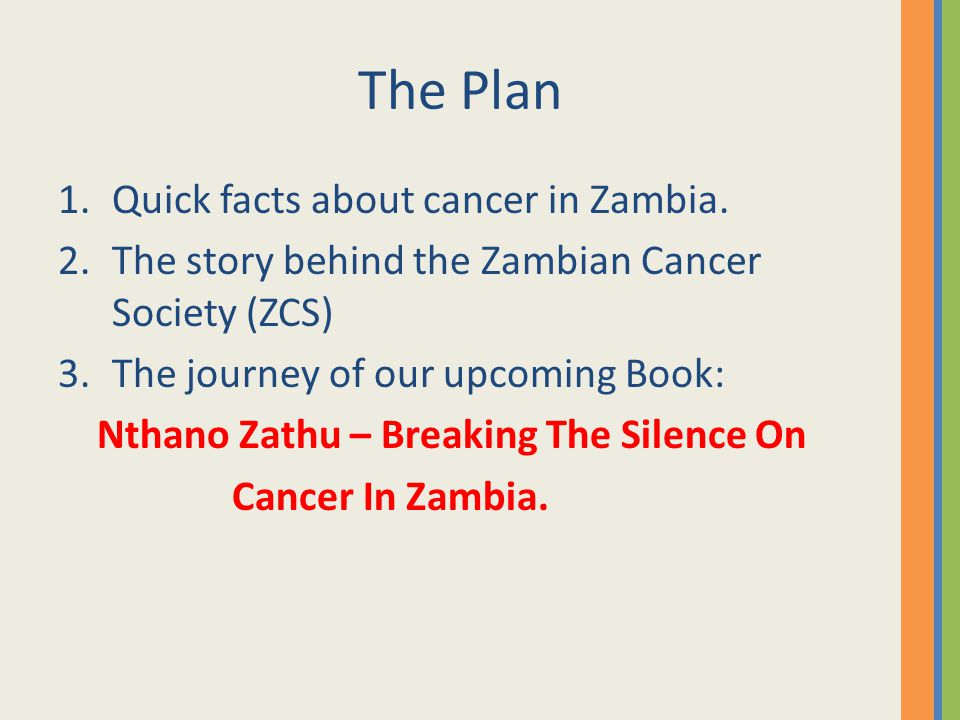 WE CAN make a difference 'The book is important in that it informs; it allows people to talk about cancer and it provides strong advocacy for cancer victims, without which, many would shrink and lose hope.' Dr.