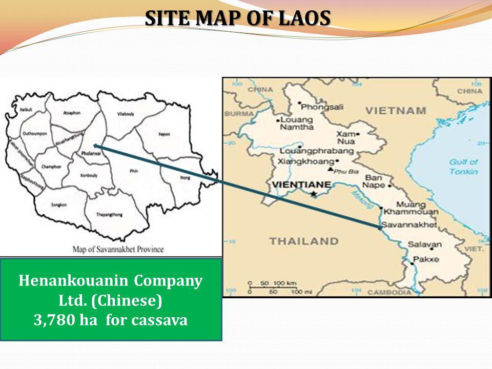 SITE MAP OF CAMBODIA Phu Rieng Company Ltd.(Vietnam)-4906 ha Dong Nai Company Ltd.