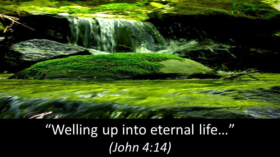Welling up into eternal life… (John 4:14)
