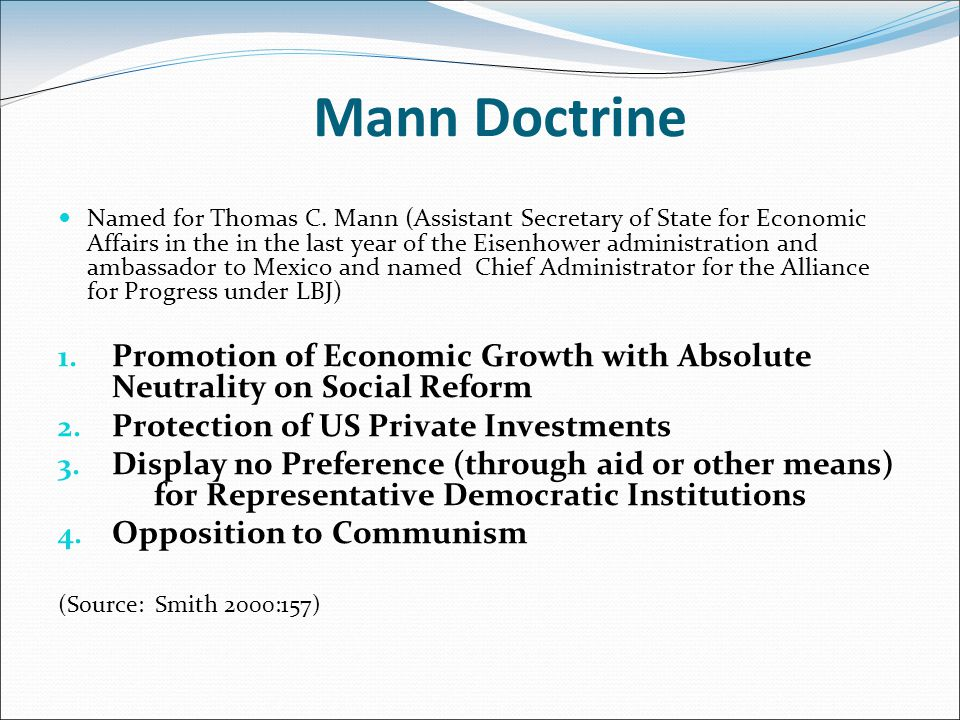 Mann Doctrine Named for Thomas C.