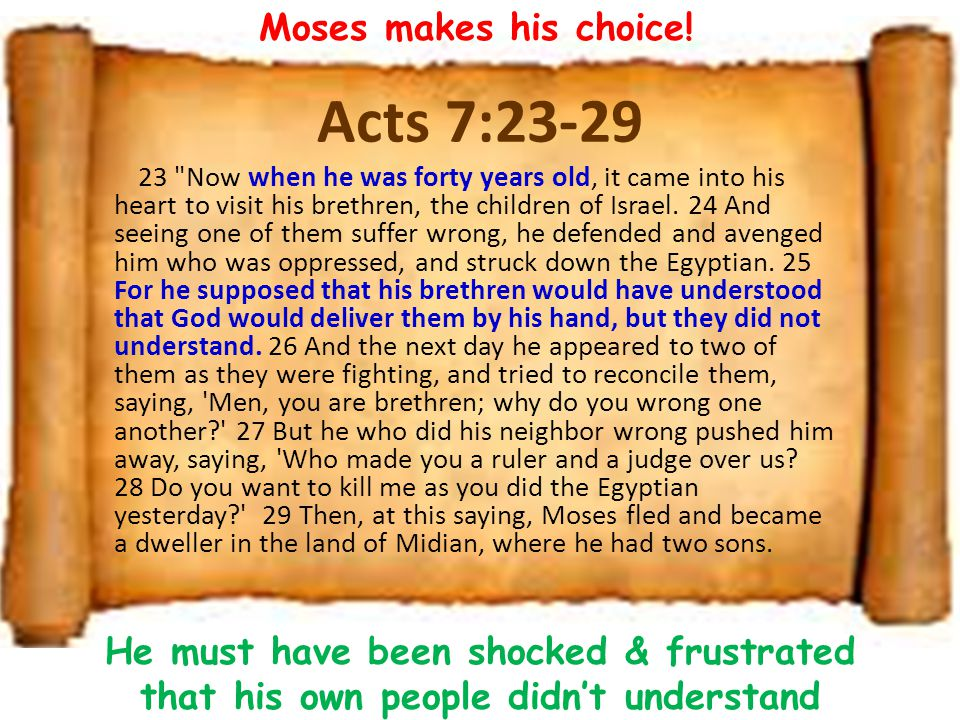 Acts 7:23-29 23