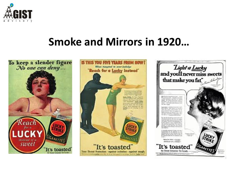 Smoke and Mirrors in 1920…