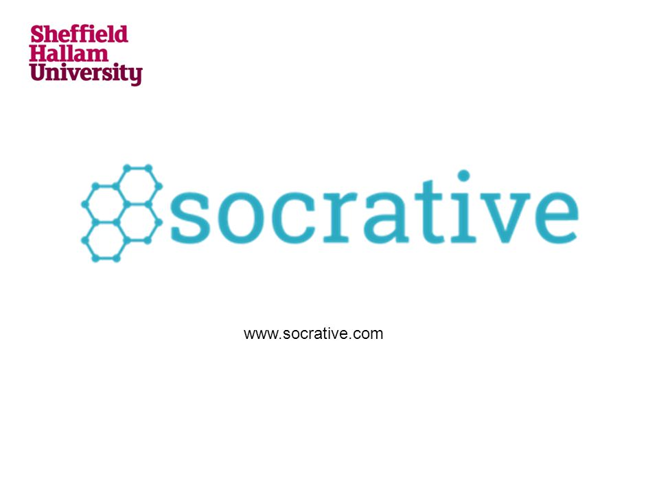 Socrative in action This is a link to a blog post developed by the SBS TEL team that includes film of me using Socrative in a lecture and an overview of issues and recommendations: https://blogs.shu.ac.uk/sbstel/2014/03/24/socrative/
