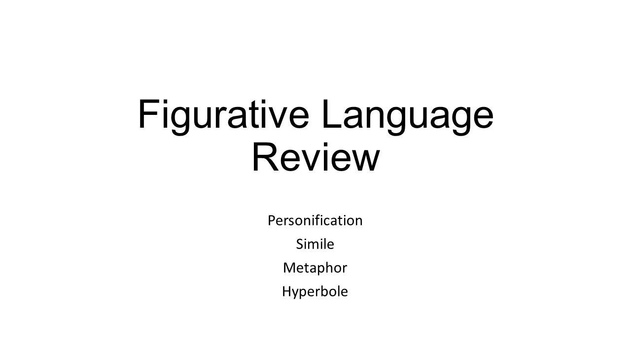 Figurative Language Review Personification Simile Metaphor Hyperbole