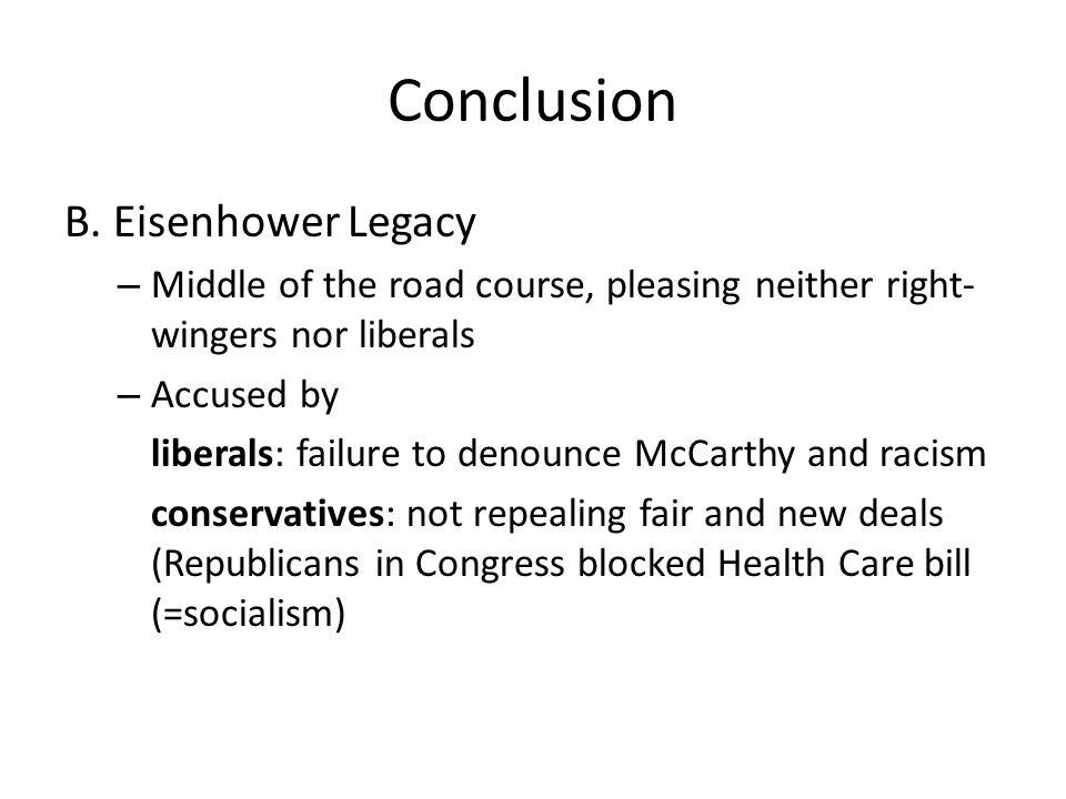 Conclusion B.