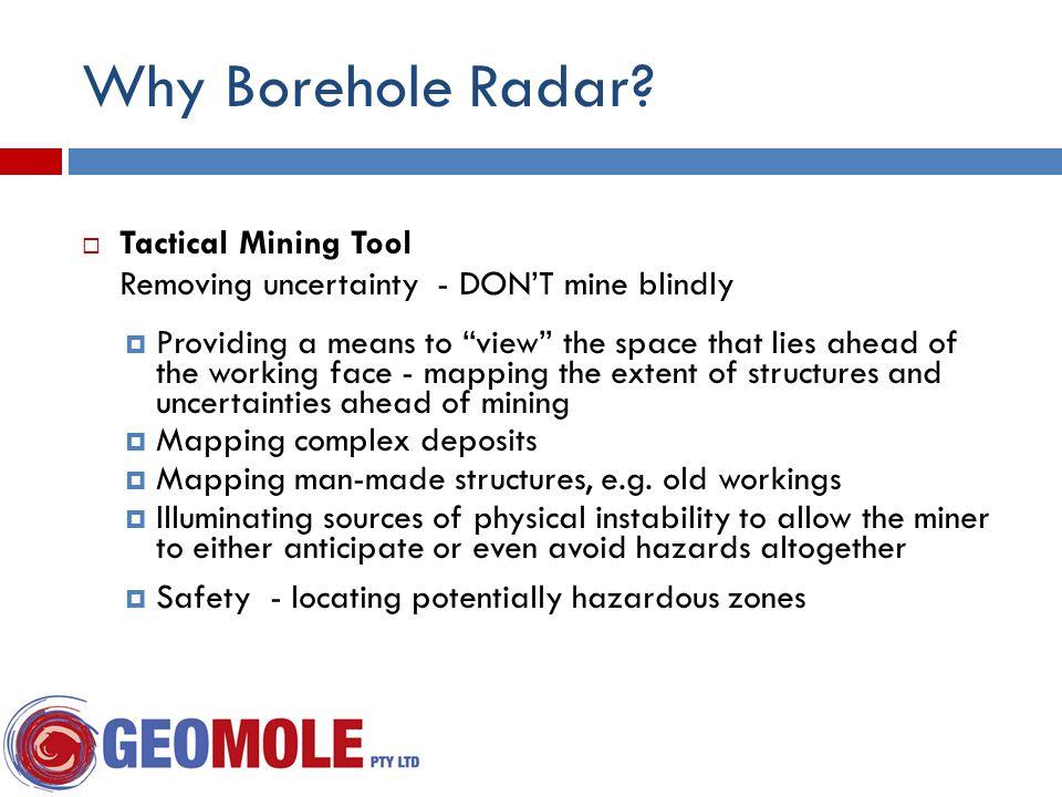 Why Borehole Radar.