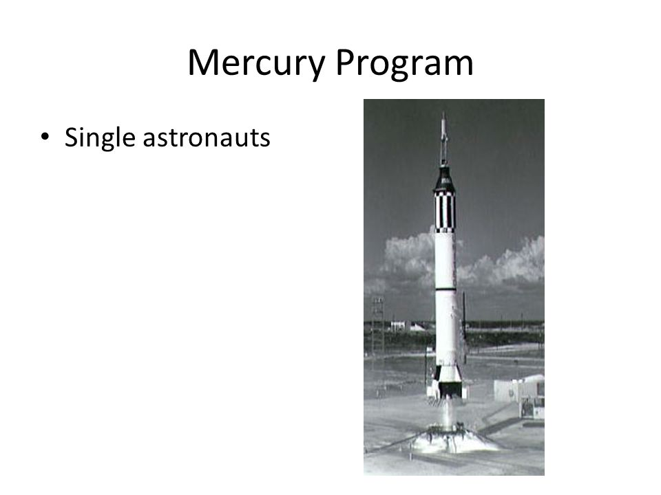 Mercury Program Single astronauts