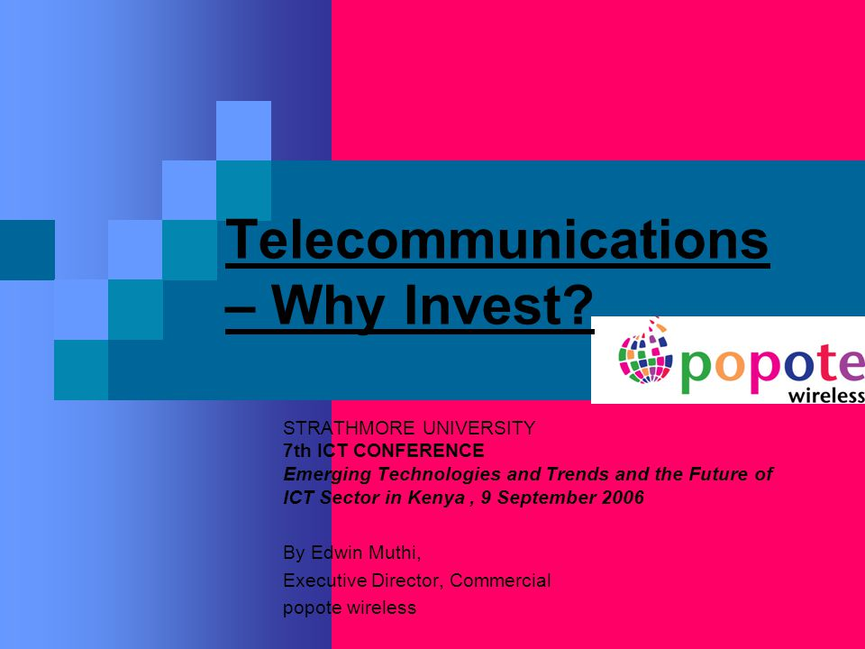 Telecommunications – Why Invest.