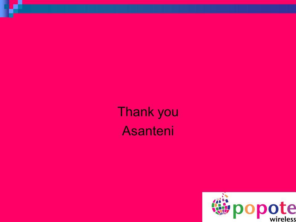 Thank you Asanteni