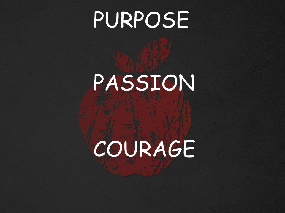 PURPOSE PASSION COURAGE
