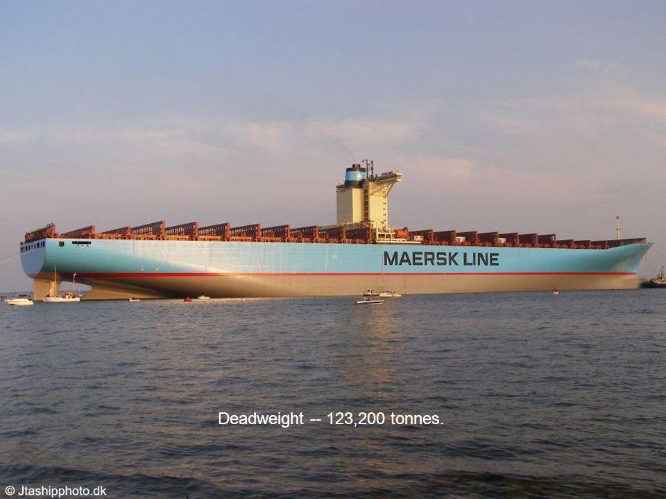 Deadweight -- 123,200 tonnes.