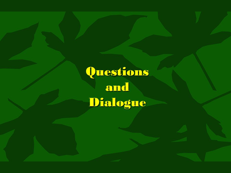 Questions and Dialogue