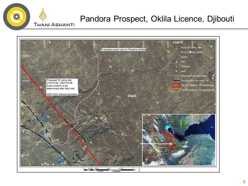 9 Pandora Prospect, Oklila Licence, Djibouti