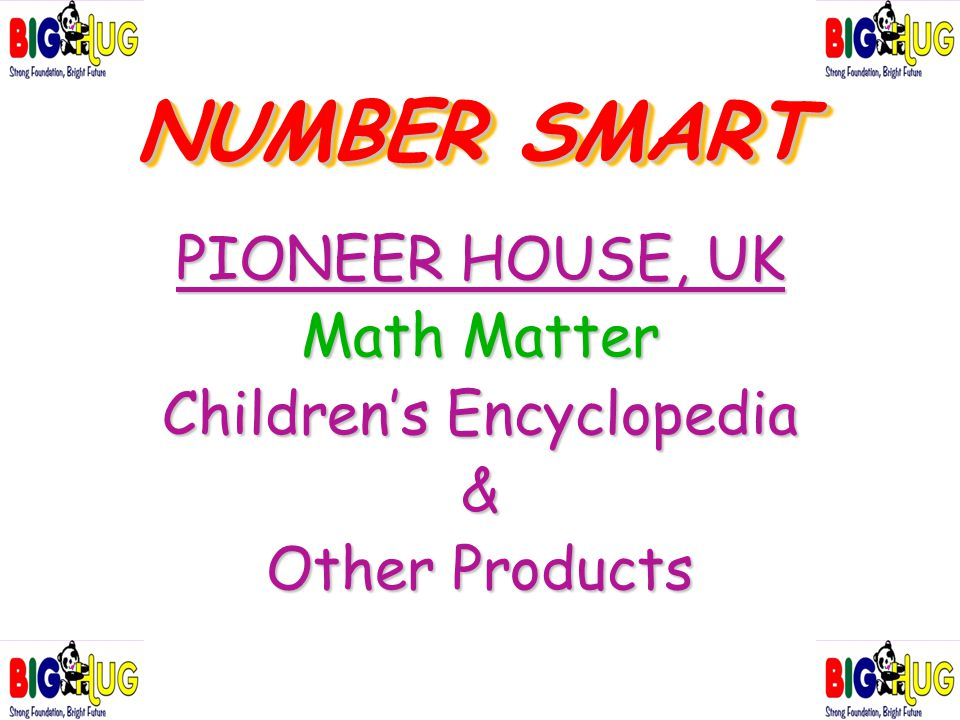 NUMBER SMART PIONEER HOUSE, UK Math Matter Children's Encyclopedia & Other Products