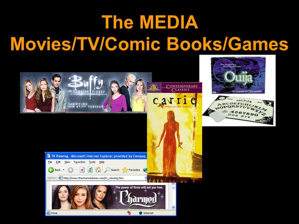 The MEDIA Movies/TV/Comic Books/Games